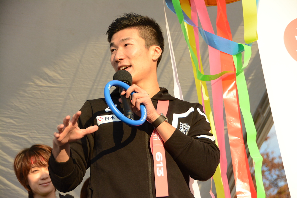 桐生祥秀、土屋太鳳からのバトンパスに興奮隠さず「男としていい経験になりました」 画像