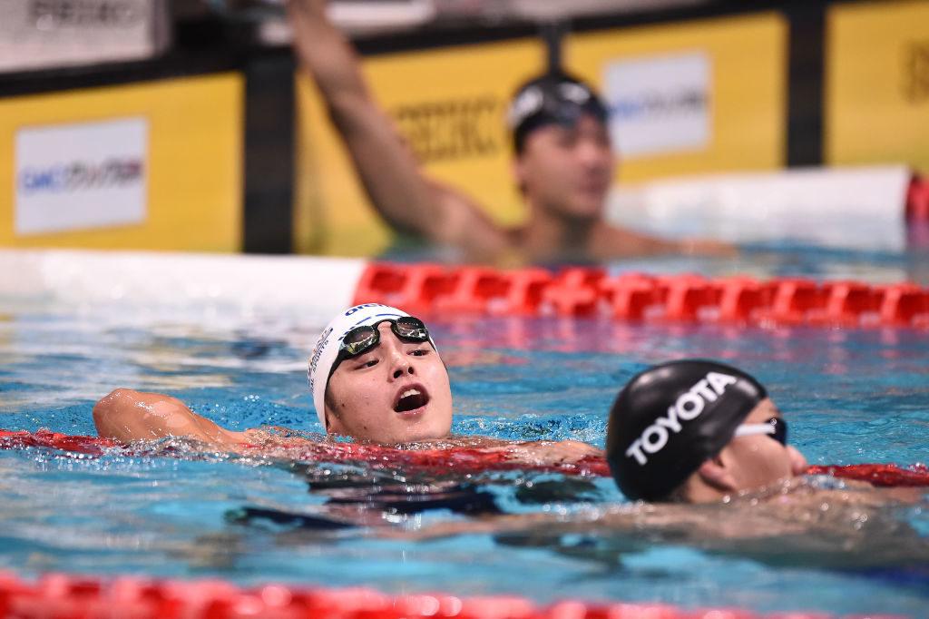 競泳・小日向一輝、「日向坂46」への想いが抑えられない!ジャパンオープンで「ヒ」ポーズを披露 | SPREAD