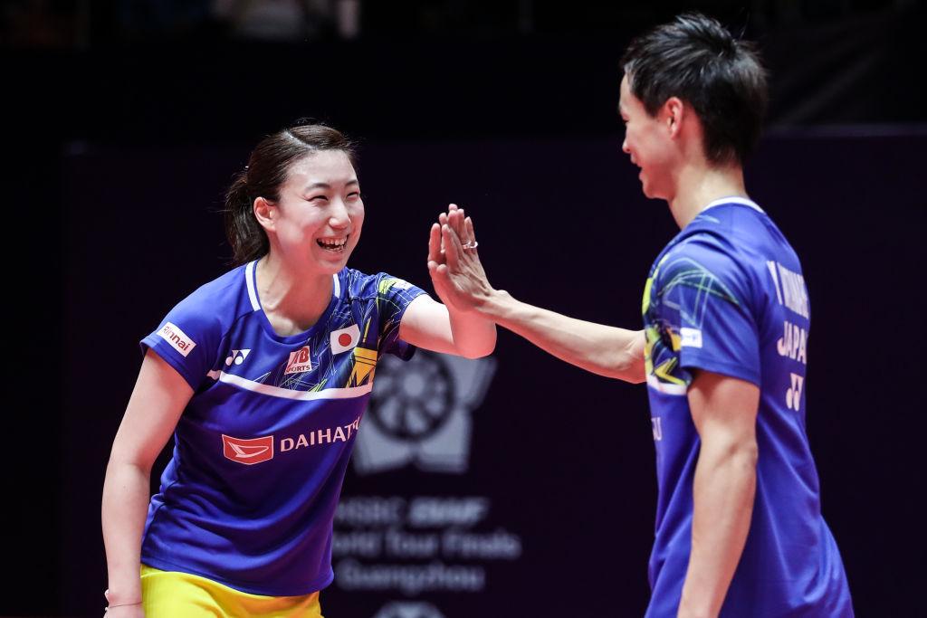 東野有紗とナガマツペアが北海道に凱旋 世界選手権の祝賀会 画像