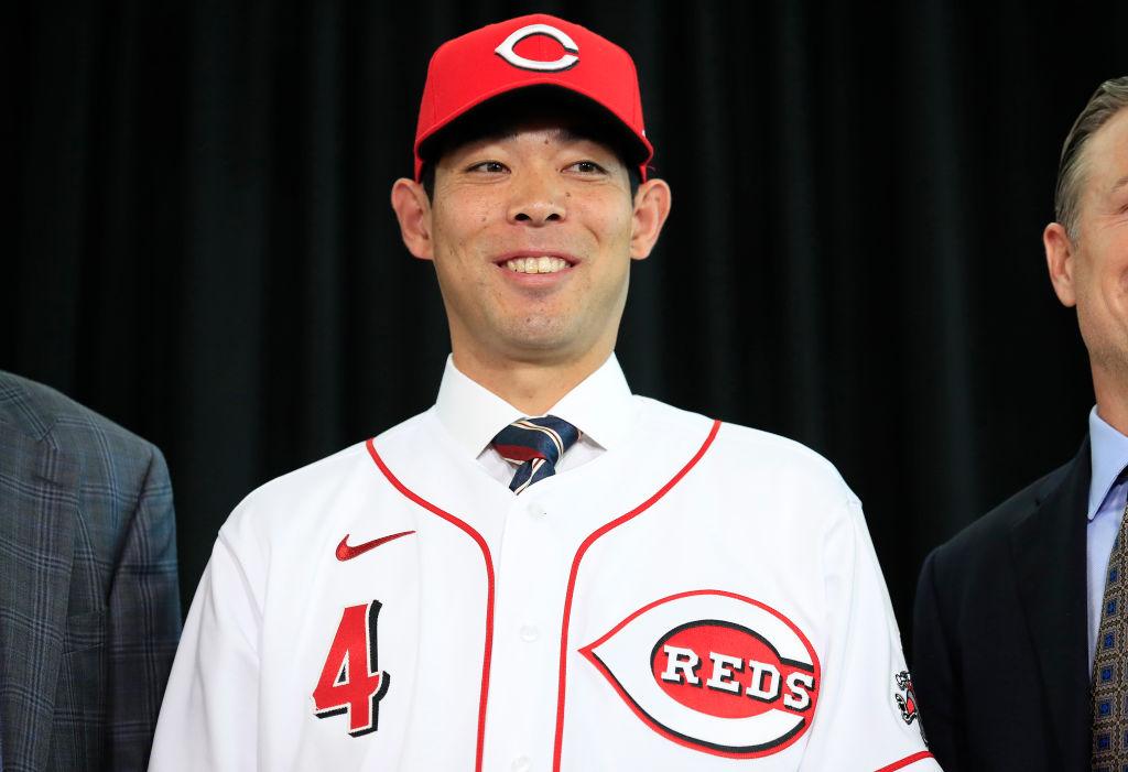 レッズ移籍の秋山翔吾が入団会見 MLB挑戦にあたり影響を受けた2人の名前を挙げる 画像