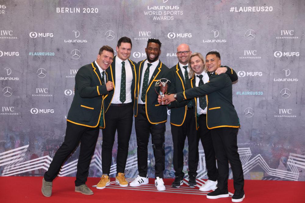 """シヤ・コリシが語る""""スポーツの力"""" ローレウス・スポーツ賞、最優秀チームはラグビー南アフリカ代表  画像"""