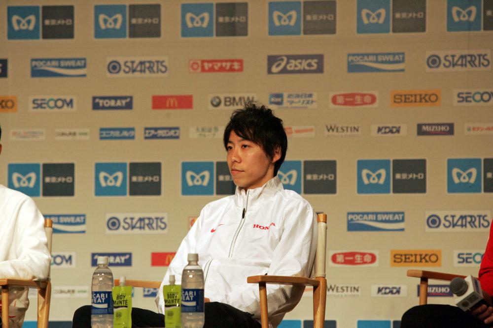 設楽悠太、東京マラソンは「そんなに深く考えず、自然に走れるように」 いつものスタイルで臨んだ事前会見 画像