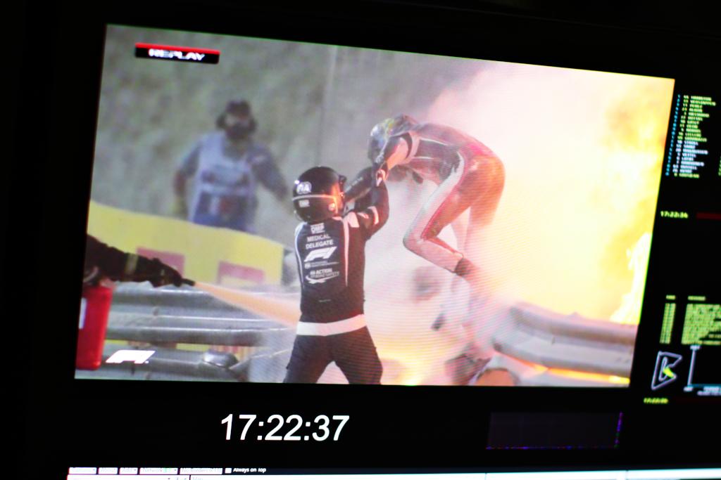 【F1】大炎上のグロージャン 執念と奇跡の生還 画像
