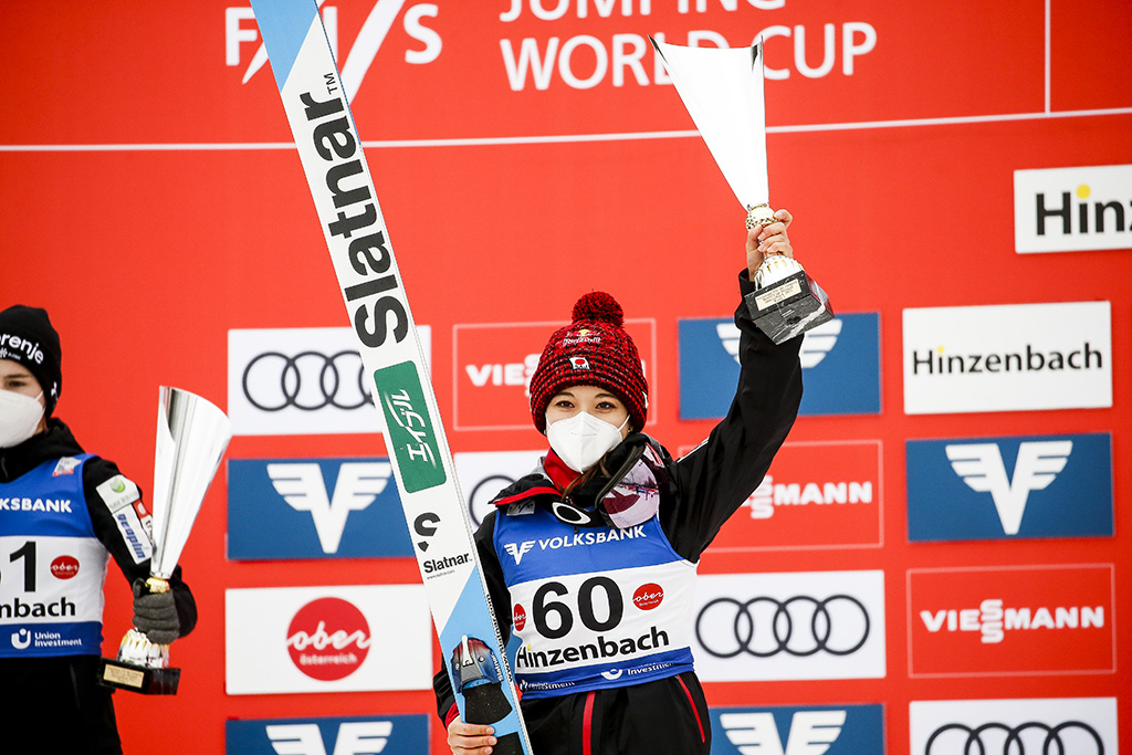 【スキー】高梨沙羅が今季2勝目、自身の歴代最多優勝記録を59に更新 ノルディック世界選手権代表にも選出 画像