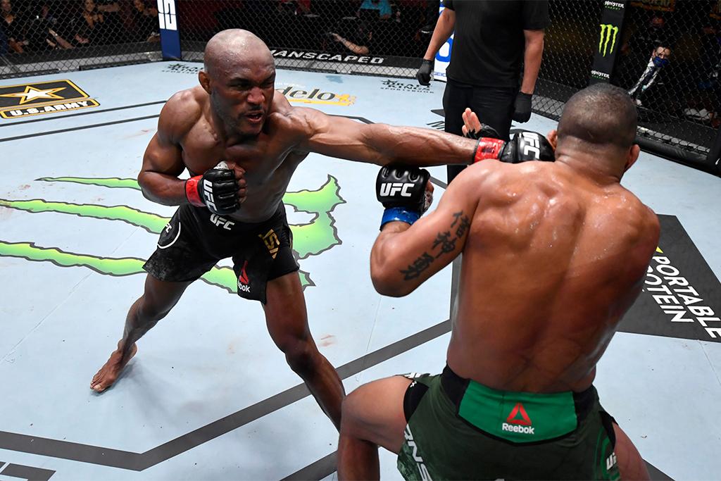 【格闘技】UFC王者ウスマン、3度目の王座防衛 UFCウェルター級史上最長記録となる13連勝を飾る 画像