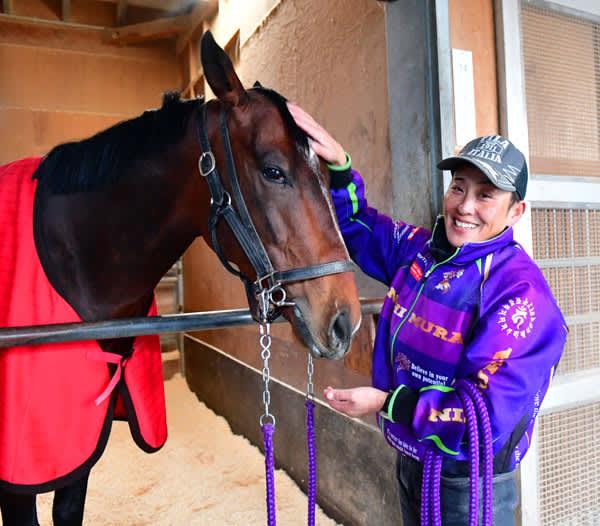 【フェブラリーS】競馬サークルの女性パイオニア・梅内栄子調教助手が語るオーヴェルニュの今 画像