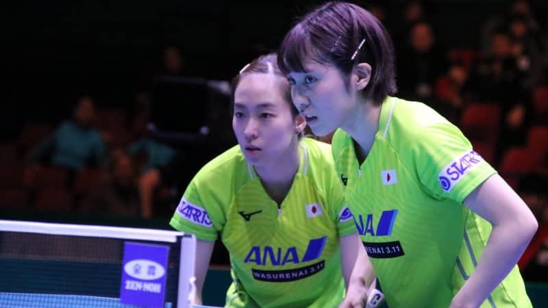 五輪代表の石川佳純/平野美宇ペアが圧巻V 2021年初の国際大会で力見せる<卓球・WTTコンテンダードーハ> 画像