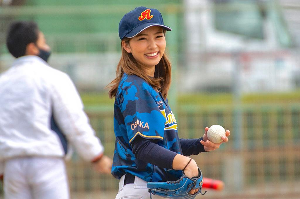 最速120キロの美女左腕・笹川萌が語る「野球と私」前編・白球を追い続けた学生時代