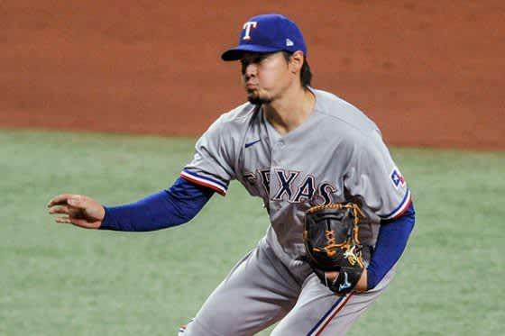 【MLB】有原航平、逆転ピンチで筒香嘉智を三振斬り 6回途中無失点、初勝利権利持って降板 画像
