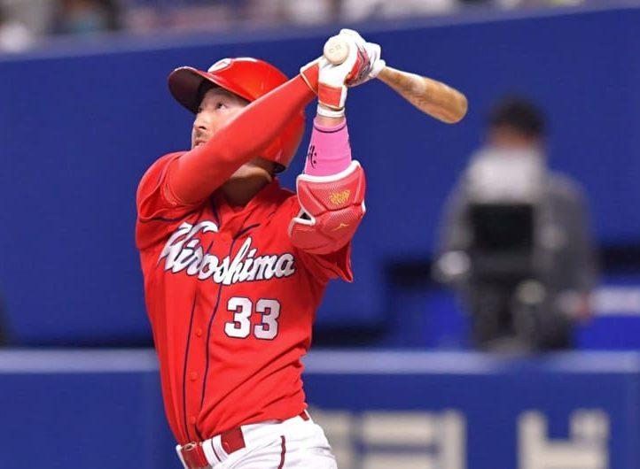 菊池涼が先頭打者アーチで100号到達 チームのゼロ行進も31イニングで終止符 画像