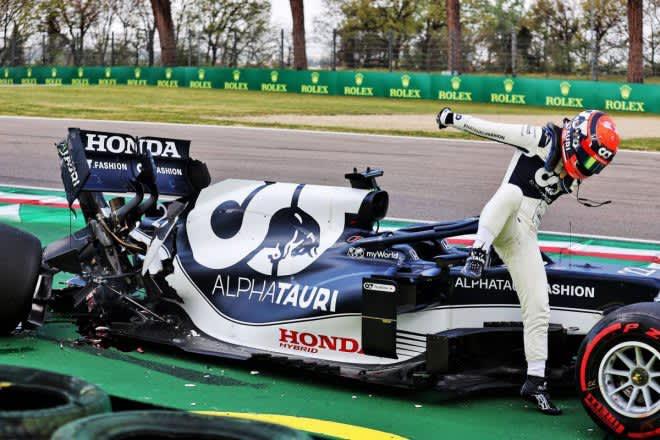 ハミルトンがポール獲得。角田はQ1でクラッシュ【順位結果】F1第2戦エミリア・ロマーニャGP予選 画像