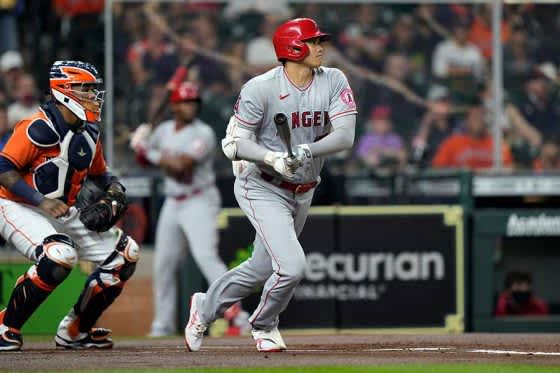 大谷翔平、第1打席で技あり中前打&二盗! MLB通算32盗塁は岩村氏に並ぶ日本人歴代6位 画像