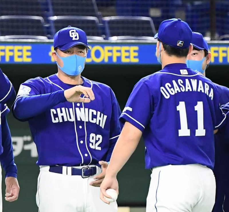中日が阪神と巨人との5連戦を4勝1敗と勝ち越し 与田監督「しっかりとこの勢いをつけていきたい」 画像