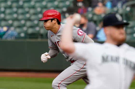 【MLB】大谷翔平、投手なのにチームトップ4盗塁 快足二盗に米メディア「凄まじいスピード」 画像