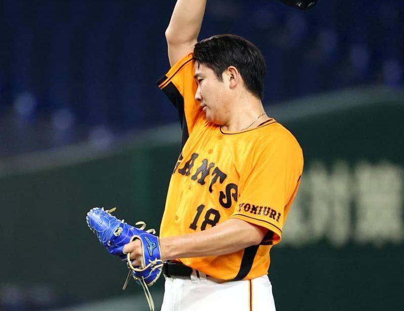 巨人・菅野が登録抹消 7日右肘違和感で途中降板 原監督「1回飛ばす」 画像