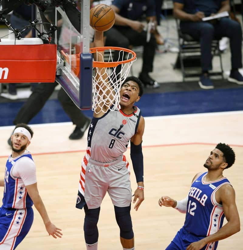 NBA八村20得点、チーム勝利 画像