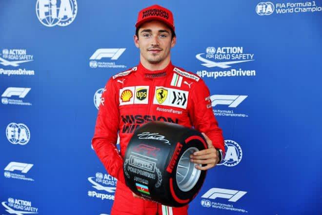 フェラーリのルクレールが2戦連続のポール獲得。角田裕毅は8番手も終盤にクラッシュ【予選レポート/F1第6戦】 画像