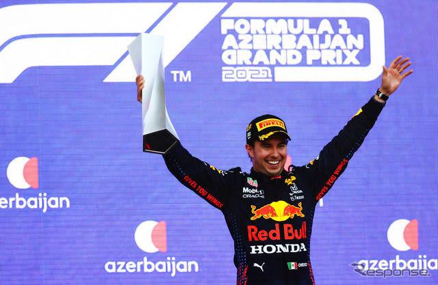 【F1 アゼルバイジャンGP】レッドブル・ホンダのペレスが今季初優勝…アルファタウリ・ホンダのガスリー3位、角田7位 画像