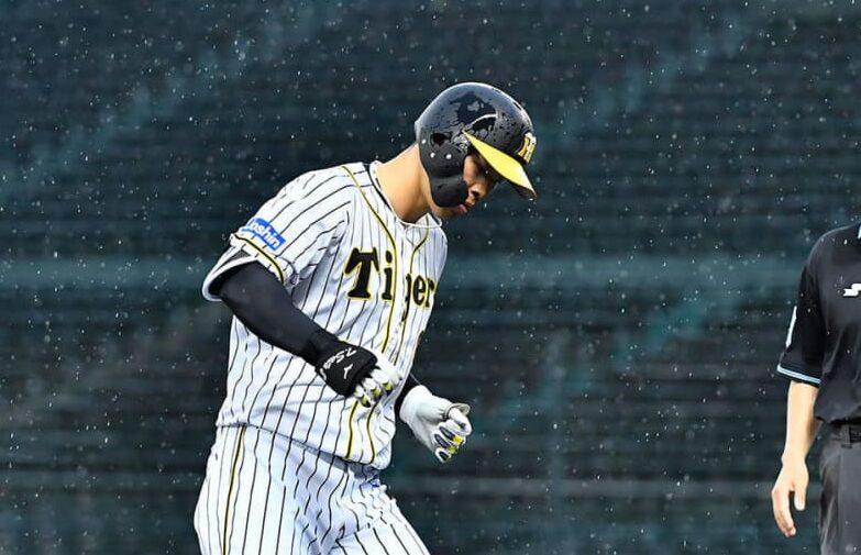 阪神・佐藤輝よ球宴アーチで見せてくれ!「タティス・ステップ」注目スポットは三塁ベース前付近 画像