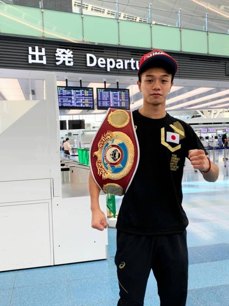 WBOフライ級王者・中谷潤人「左ストレートで」アコスタをKO宣言 V1戦へ渡米 画像