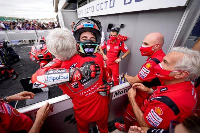 MotoGP第14戦サンマリノGP:バニャイアがポール・トゥ・ウインで2連勝。クアルタラロは0.364秒差の2位 画像