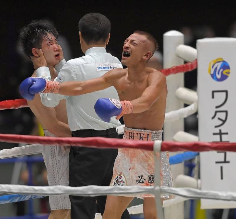 寺地拳四朗が王座陥落 10回TKOでV9ならず 矢吹が新王者「俺が世界一の男」 画像